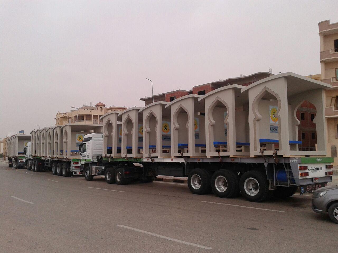تركيب محطات انتظار جاهزة للأتوبيس  بمدينة الشروق (5)