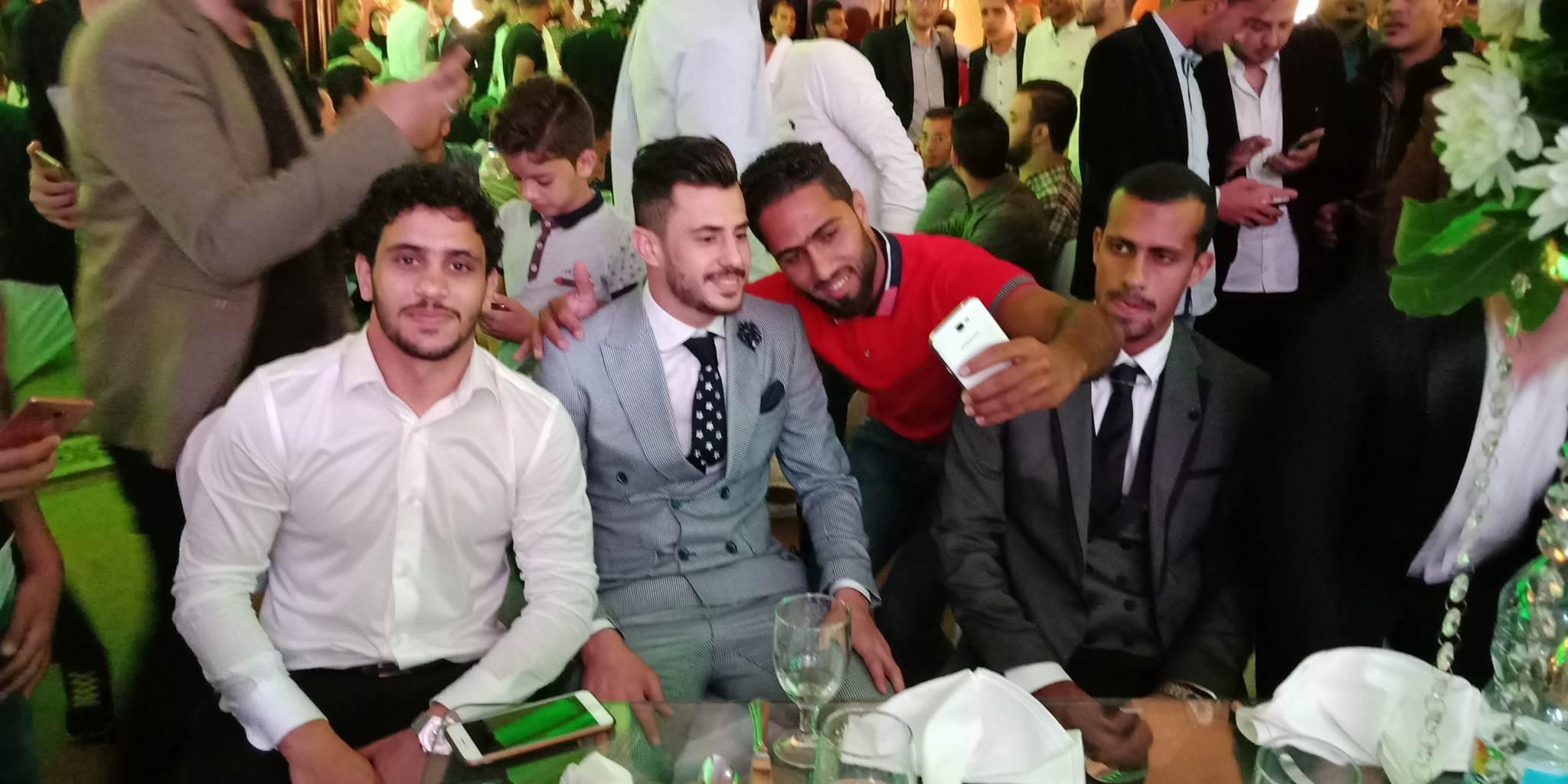 محمد أشرف روقا و عبد الله جمعة ومحمود الونش لاعبو الزمالك