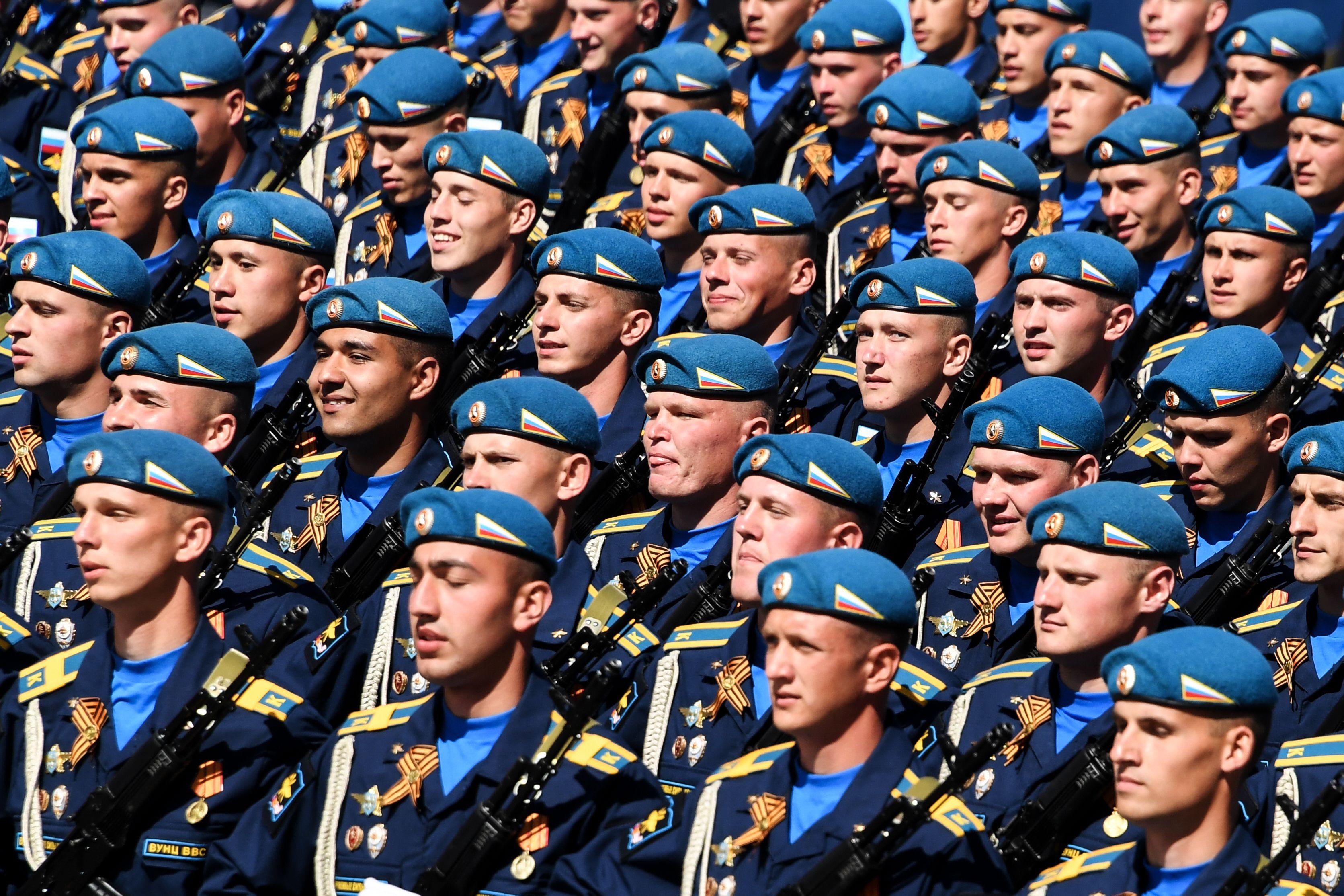 جانب من عروض الجيش الروسى