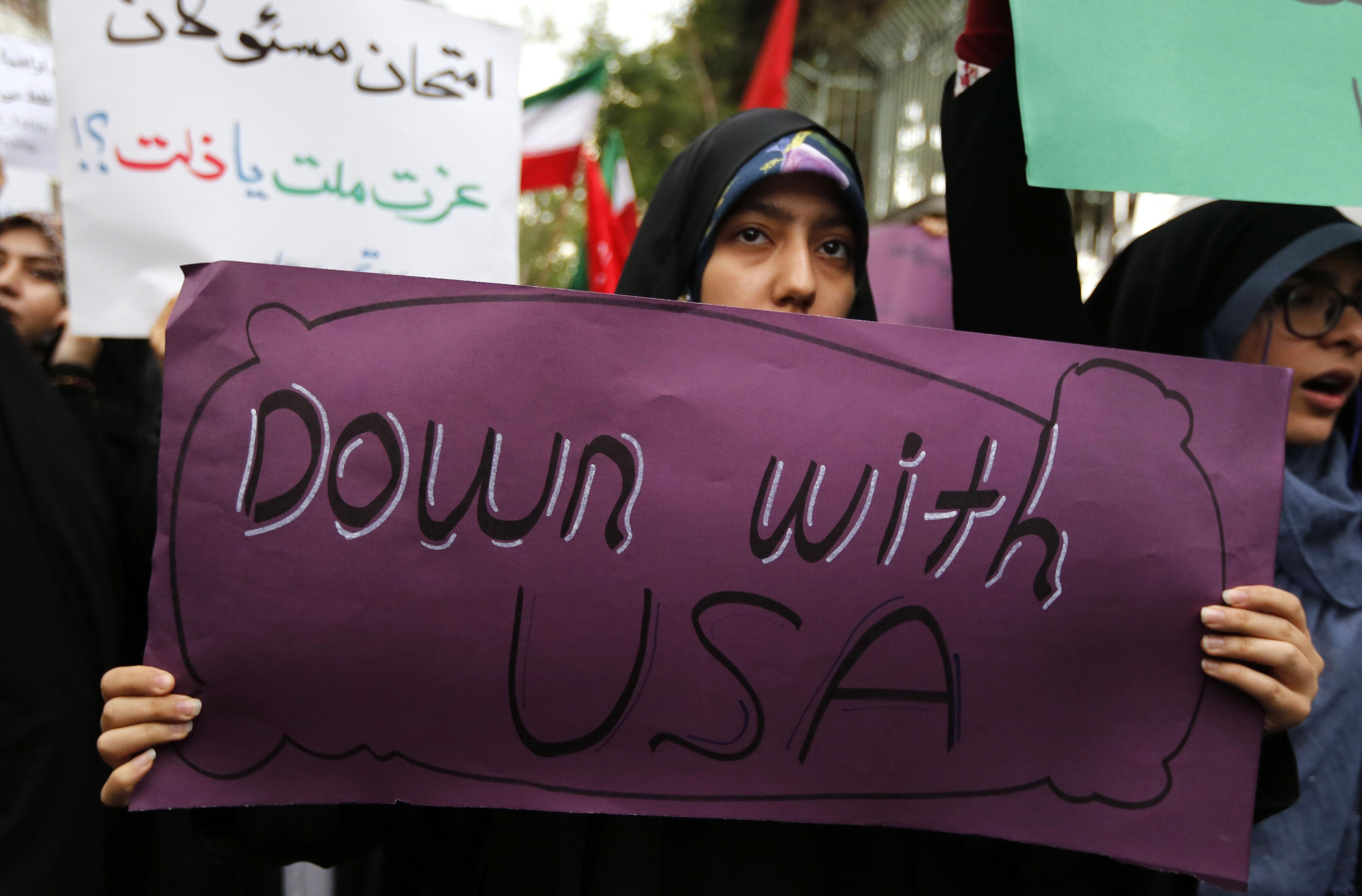لافتة الموت لأمريكا