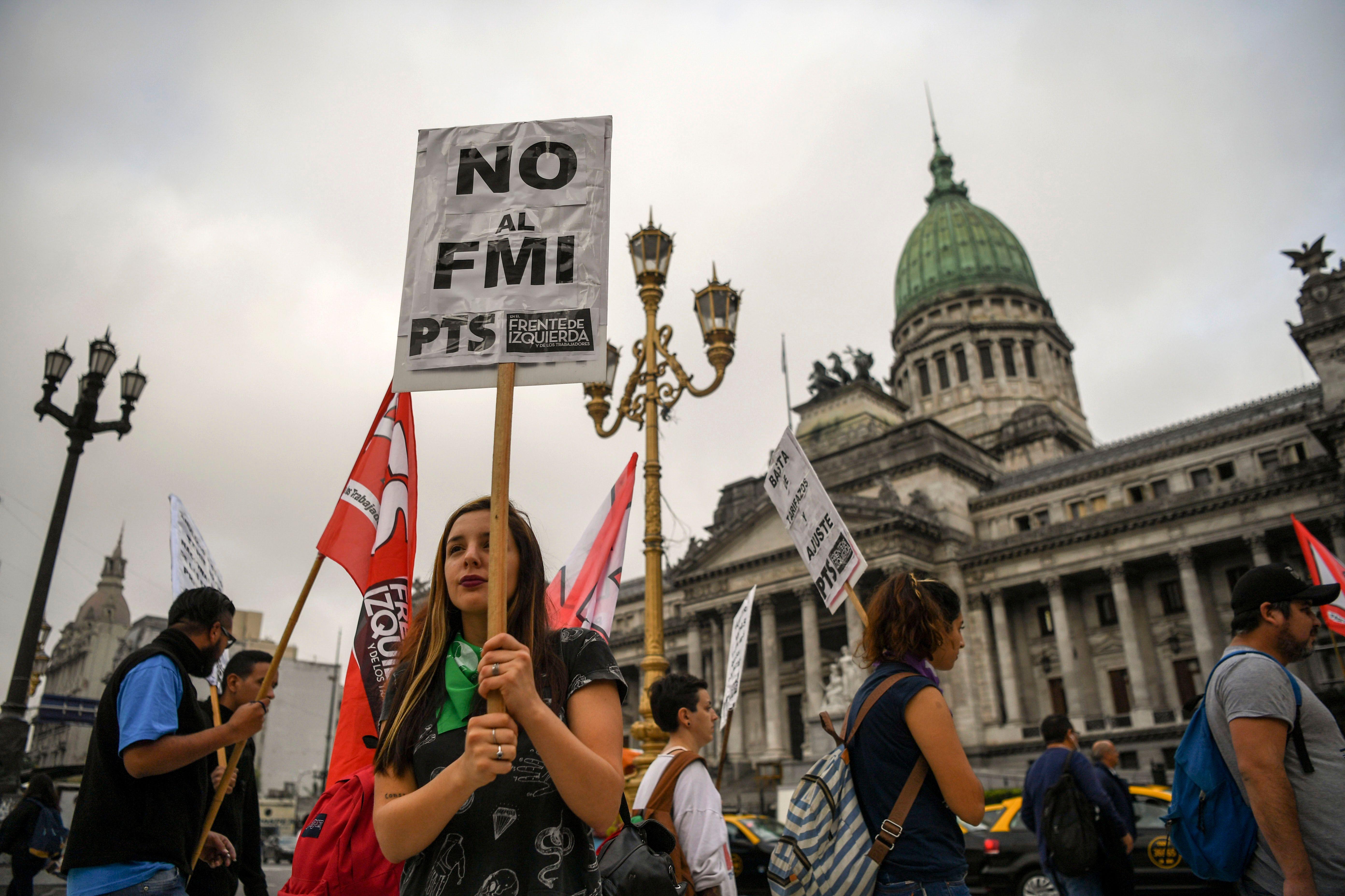تظاهرات فى الأرجنتين