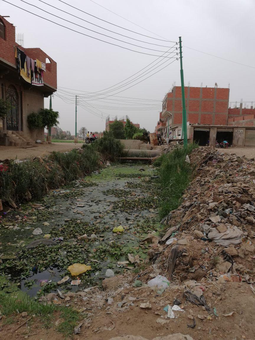 تلوث ترعة القرية