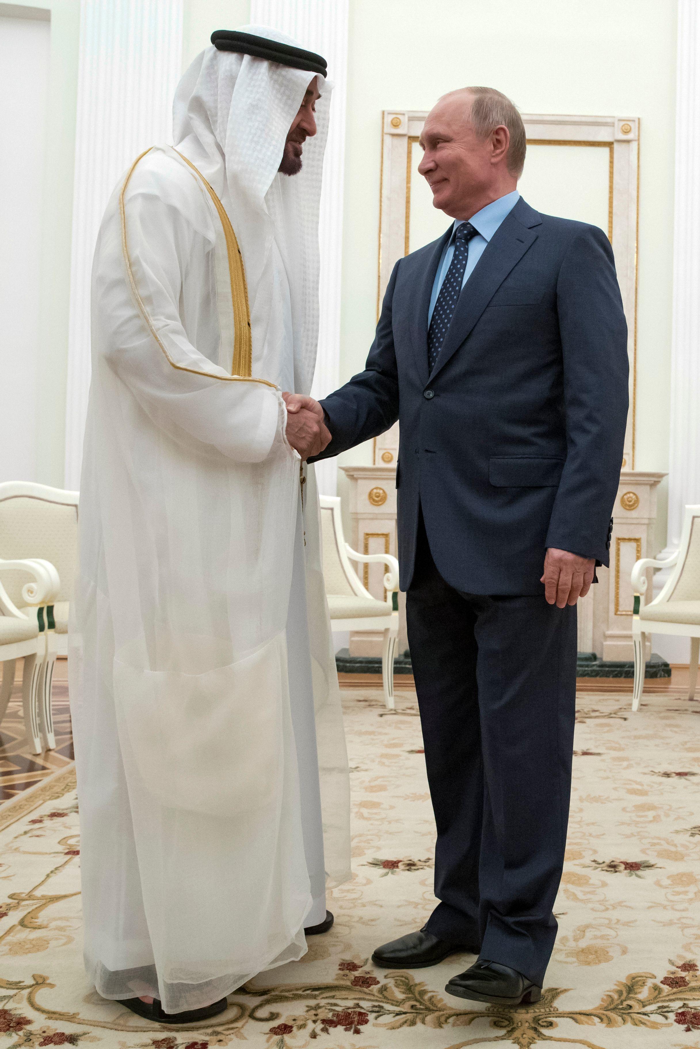 بوتين ومحمد بن زايد آل نهيان