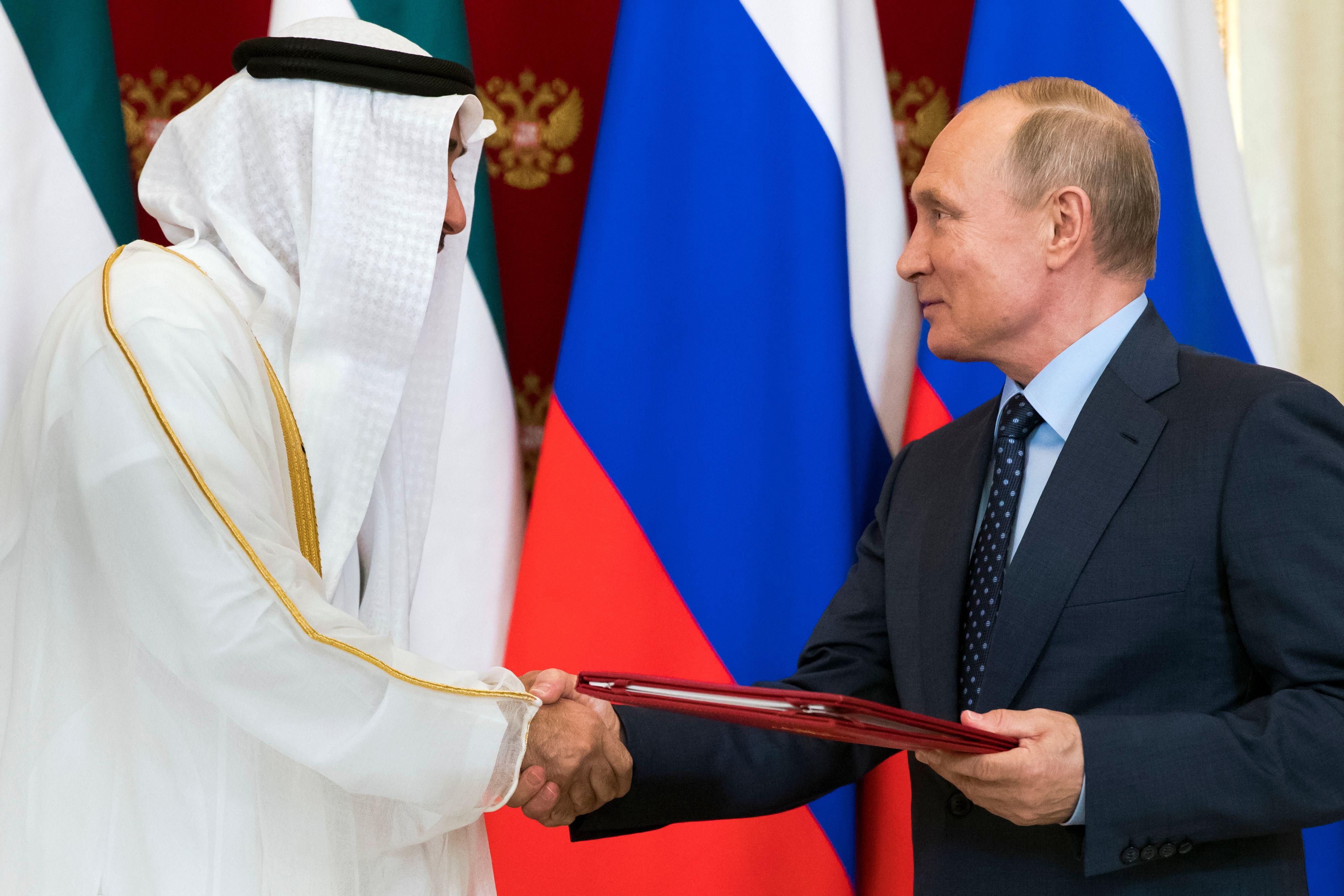 بوتين وولى عهد أبو ظبى
