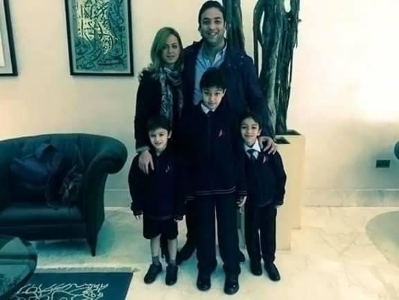 ميدو مع ابناؤه