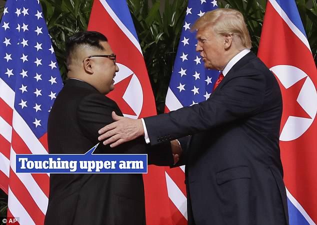 لمس الذراع