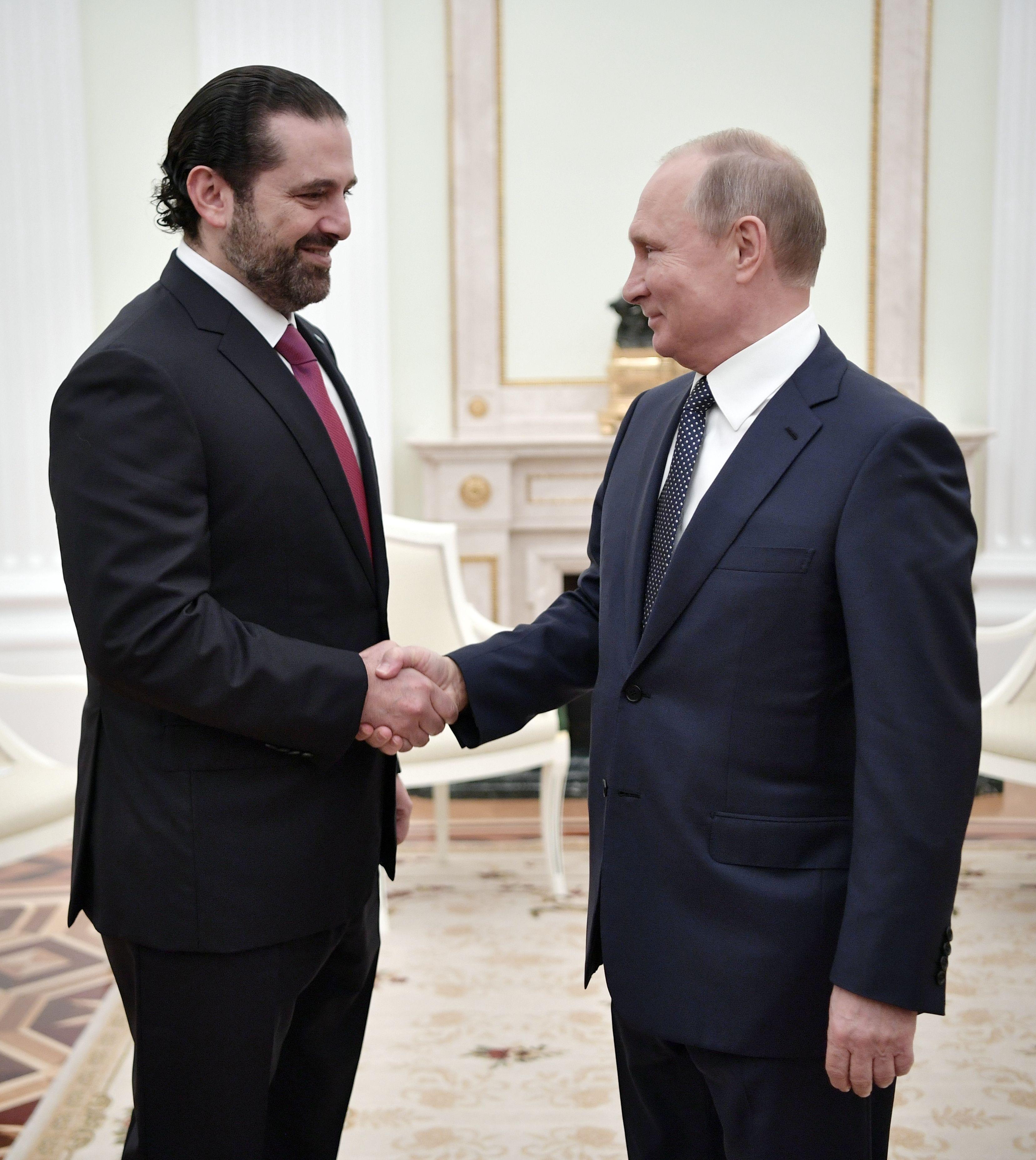 بوتين والحريرى بالكريملن