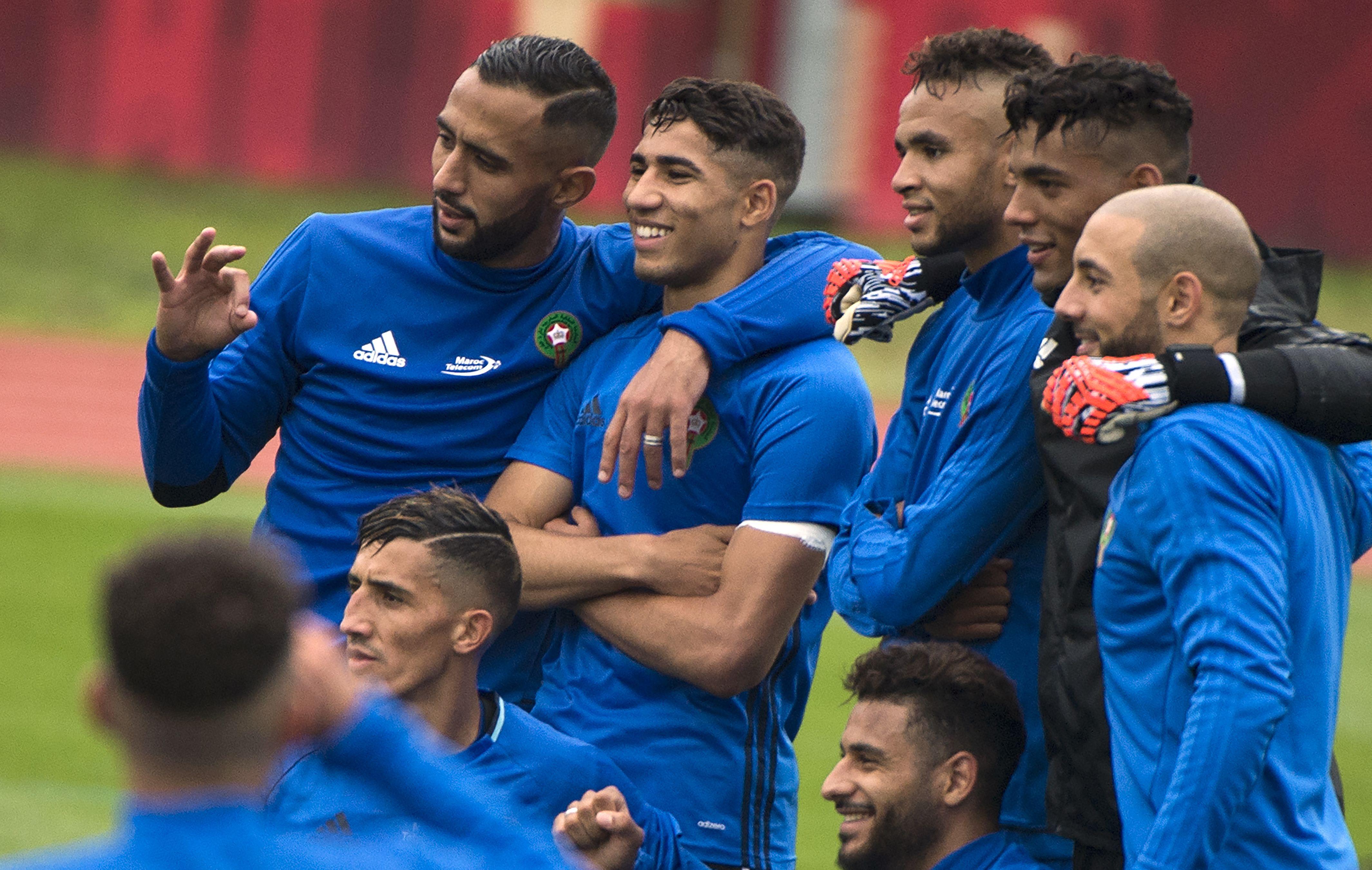 مران منتخب المغرب