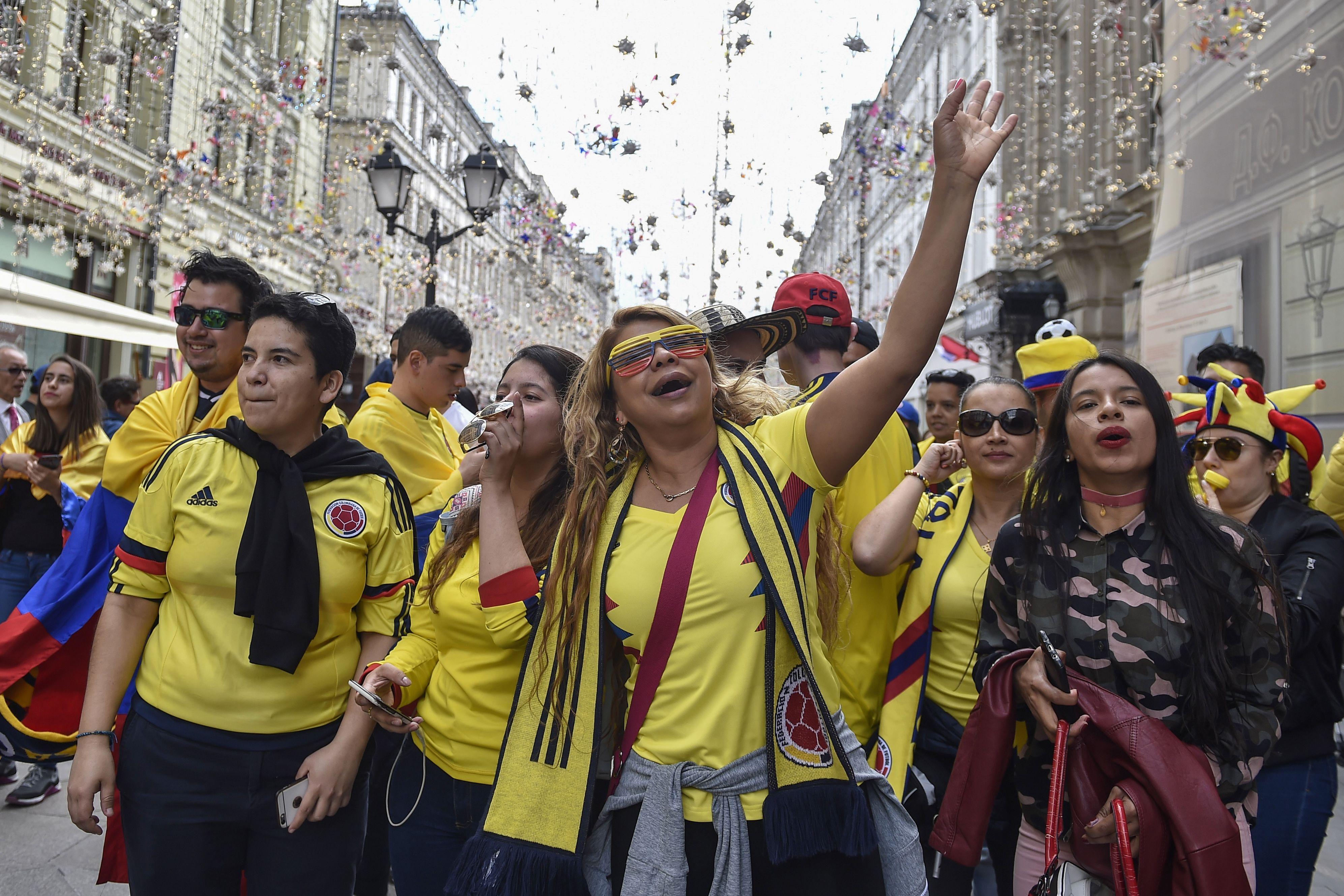 الجماهير الكولومبية فى روسيا اليوم