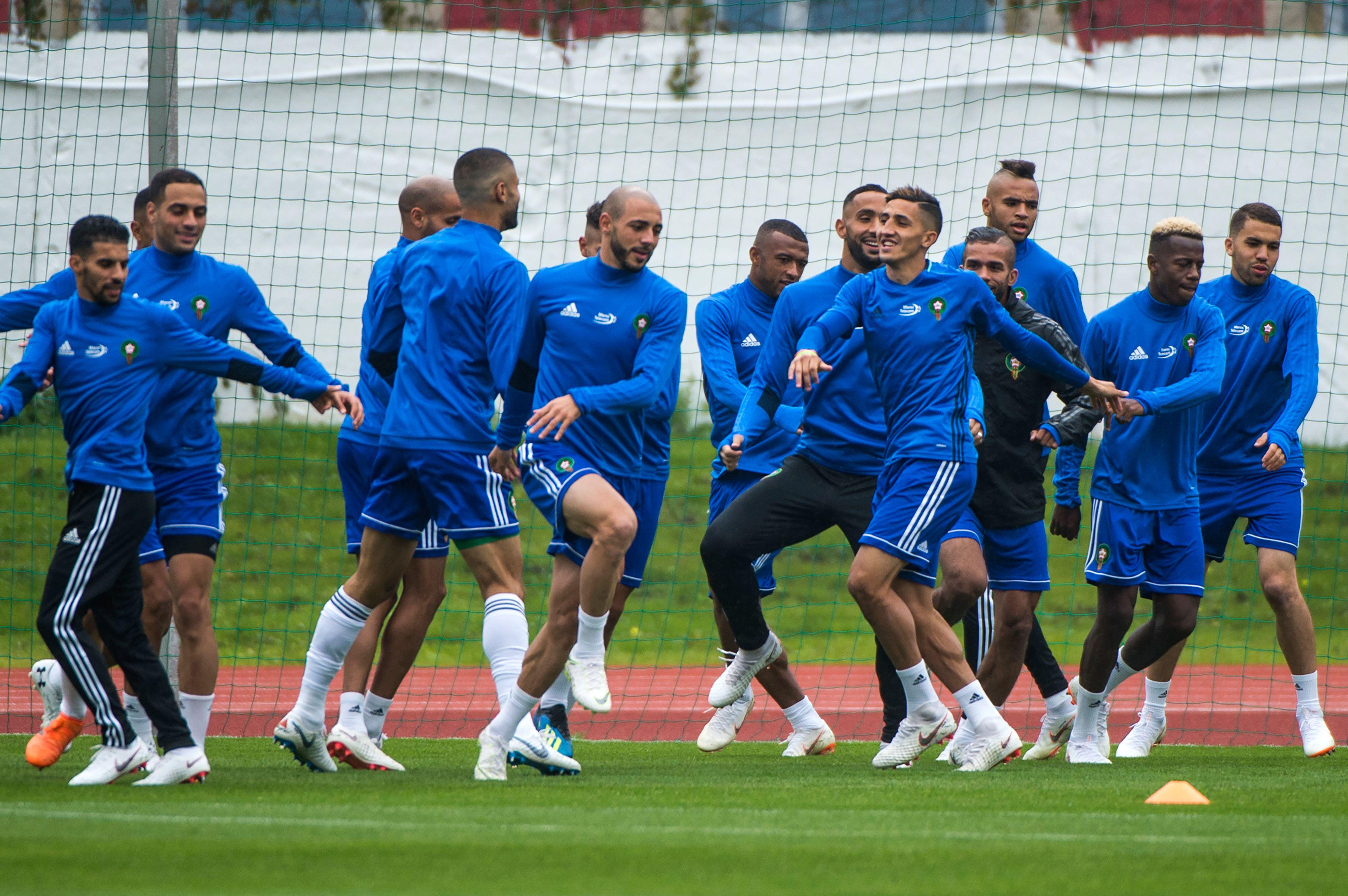 تدريبات منتخب المغرب