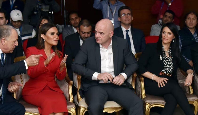 جانب من لقاء الوفد المصرى مع الاتحاد الدولى
