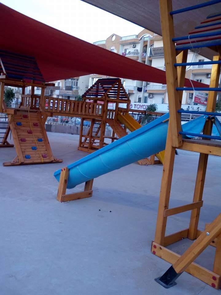 أماكن لعب الأطفال بالممشى الجديد