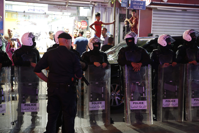 انتشار أمنى فى رام الله لمواجهة مظاهرات تضامنية مع غزة
