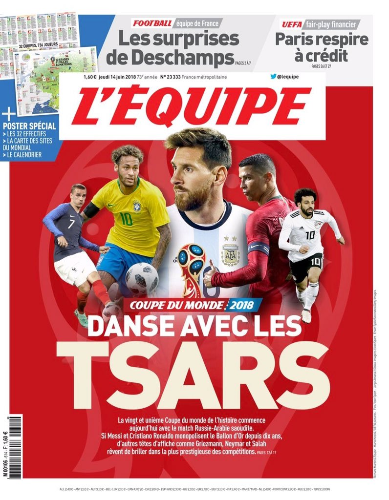 محمد صلاح يتصدر غلاف صحيفة ليكيب الفرنسية
