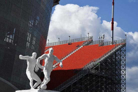 صورة من الخارج لاستاد ايكاترينبرج أرينا فى مدينة ايكاترينبرج قبل بطولة كأس العالم لكرة القدم بروسيا 2018