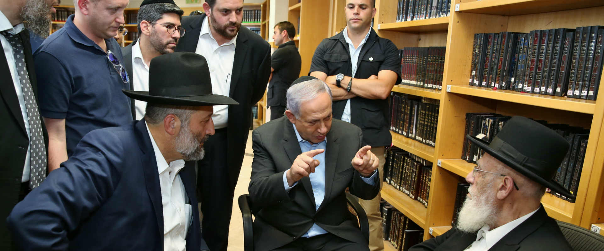 نتانياهو مع حاخامات يهود