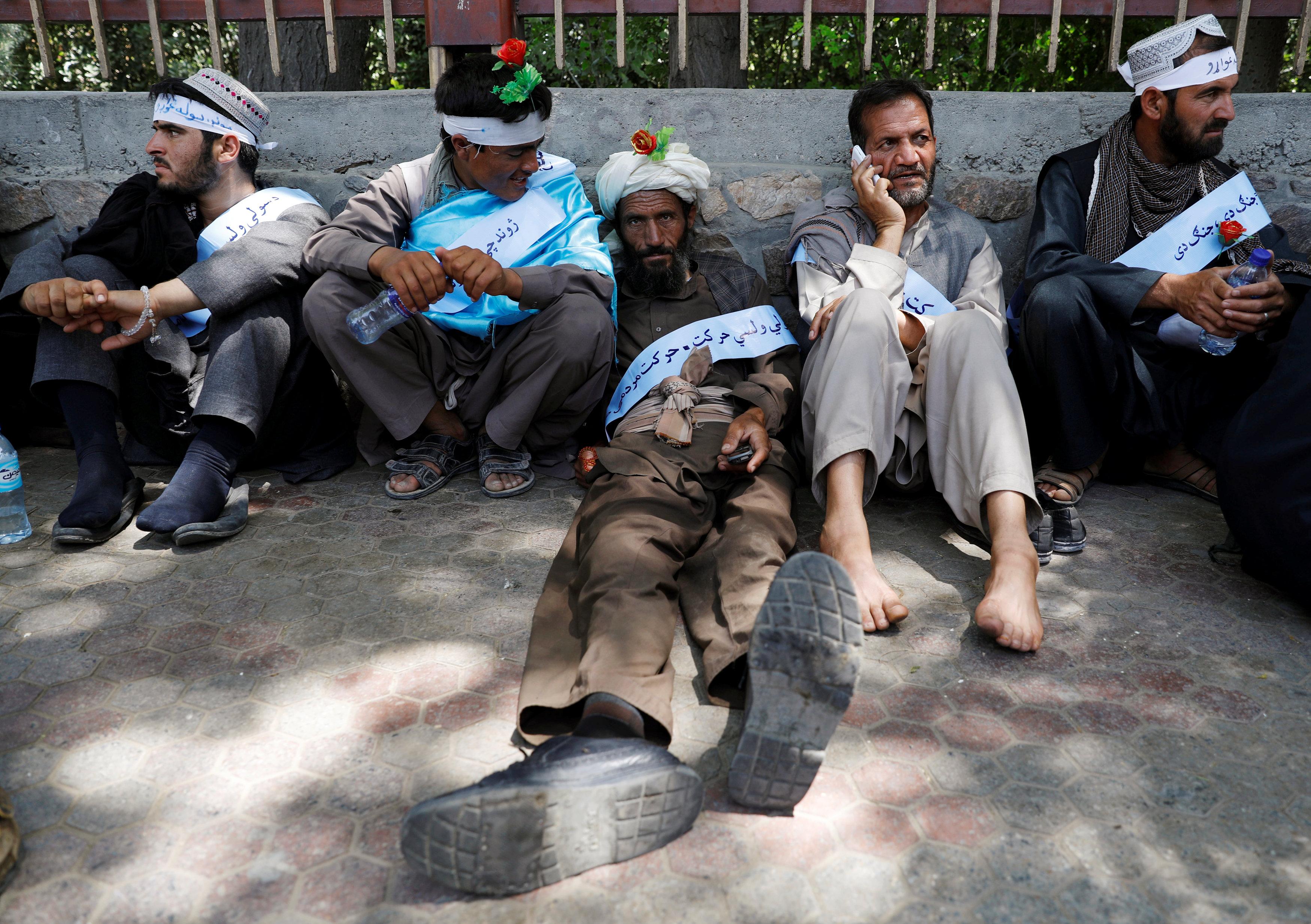 """المسيرة جاءت فى مقاطعة """"هلمند"""" التى تقع أجزاء كبيرة منها تحت سيطرة طالبان"""