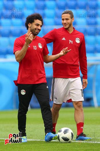 تدريبات منتخب مصر كاس العالم (6)