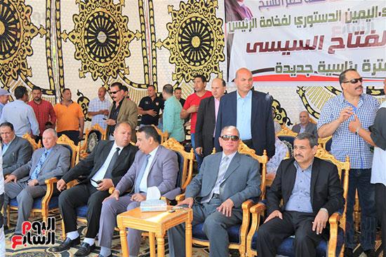 جانب من الاحتفال بكفر الشسيخ لأداء الرئيس اليمين الدستوري