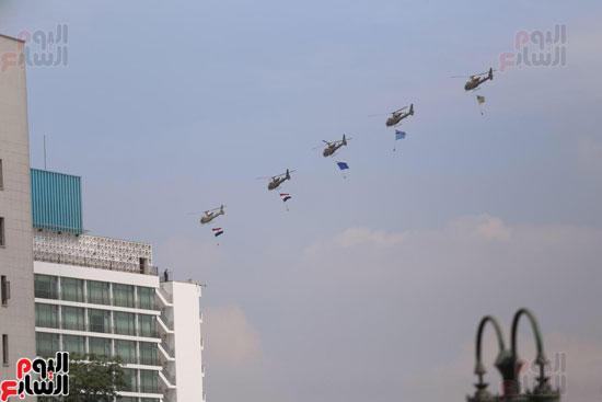 طائرات ترسم الأعلام المصرية (4)