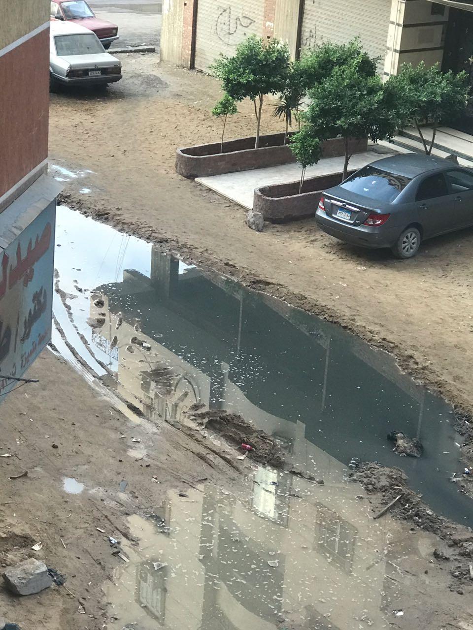 مياه الصرف بشارع سليم الزقلة  (1)