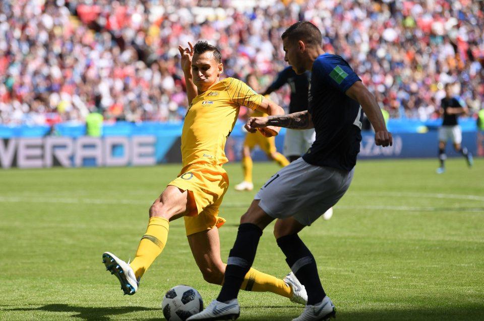 جانب من مباراة فرنسا وأستراليا