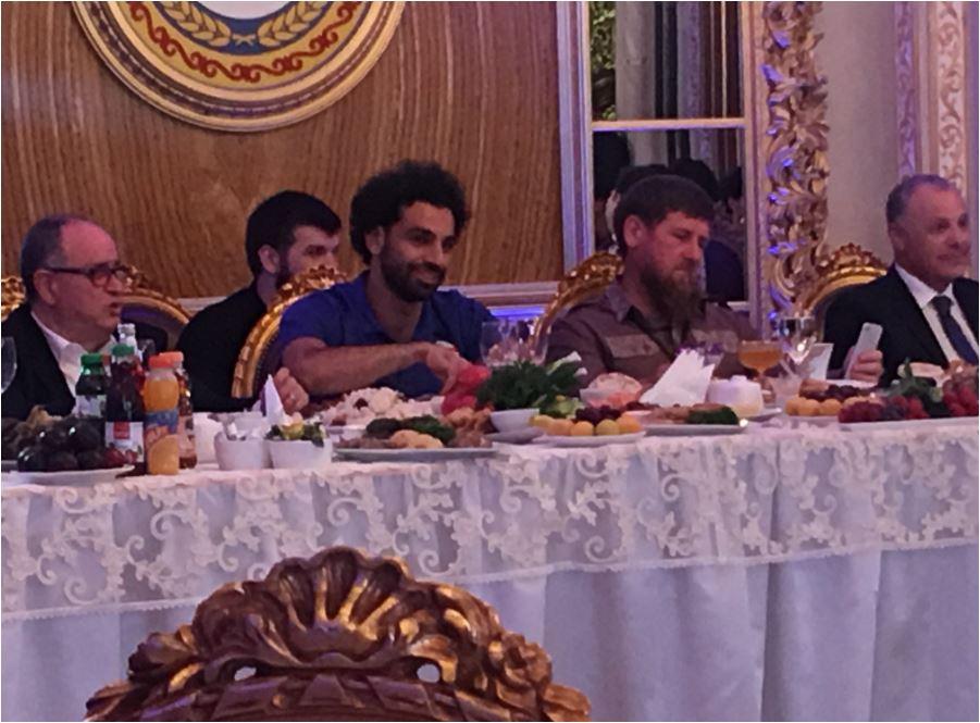 محمد صلاح والرئيس الشيشانى رمضان