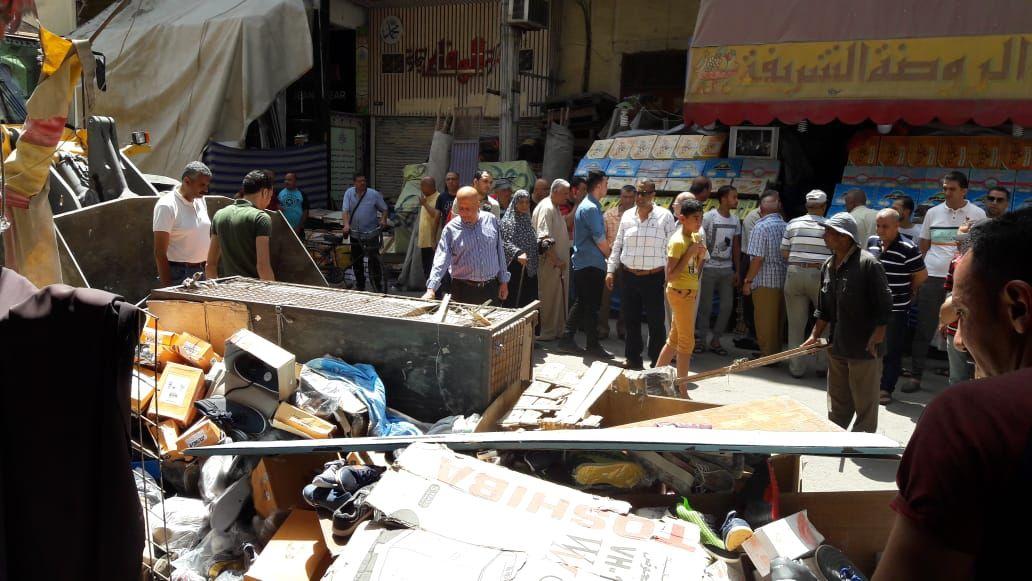 حملة لإزالة إشغالات شارع الثلاثينى (4)