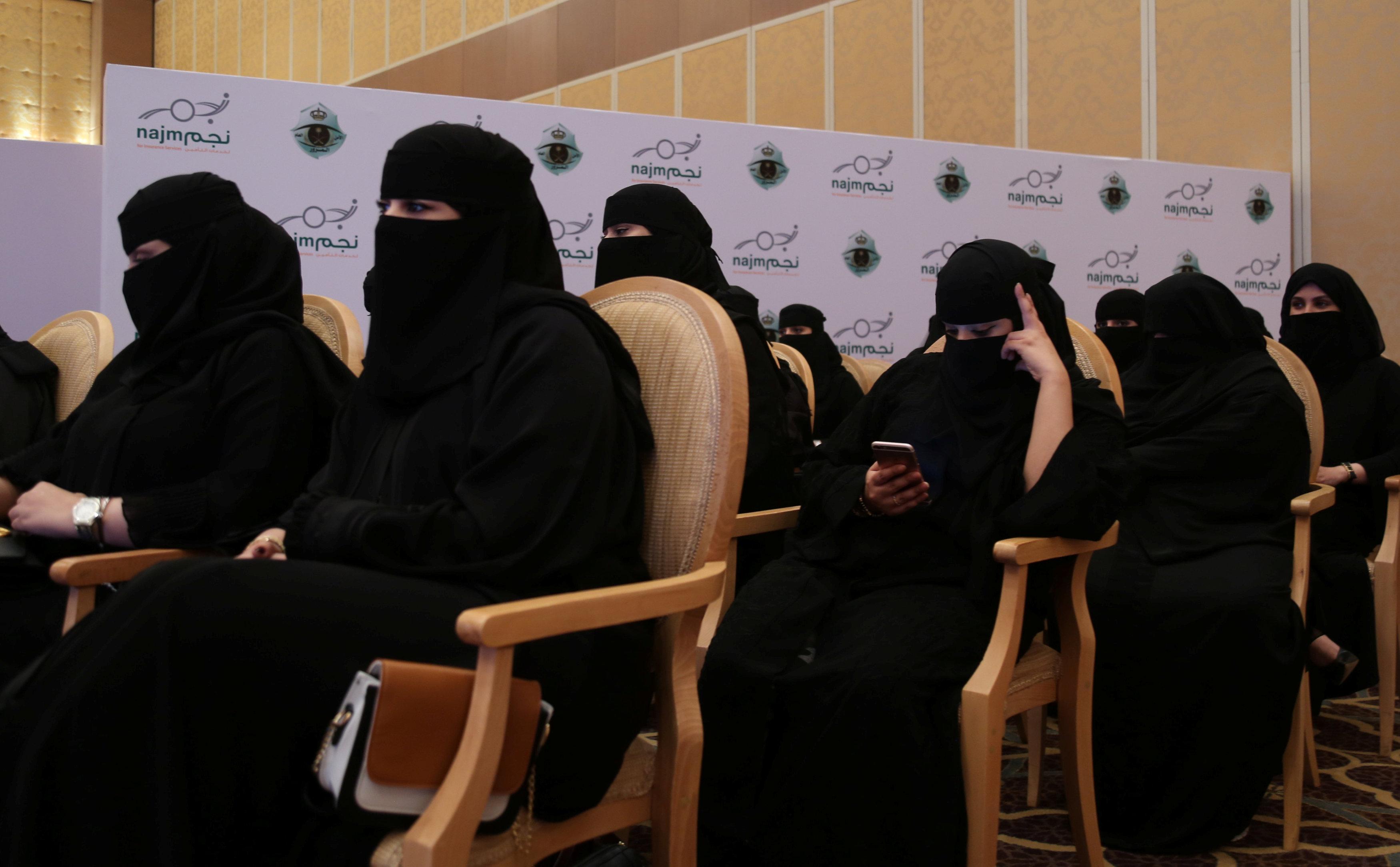 سيدات سعوديات أثناء مشاركتهن فى حفل التخرج