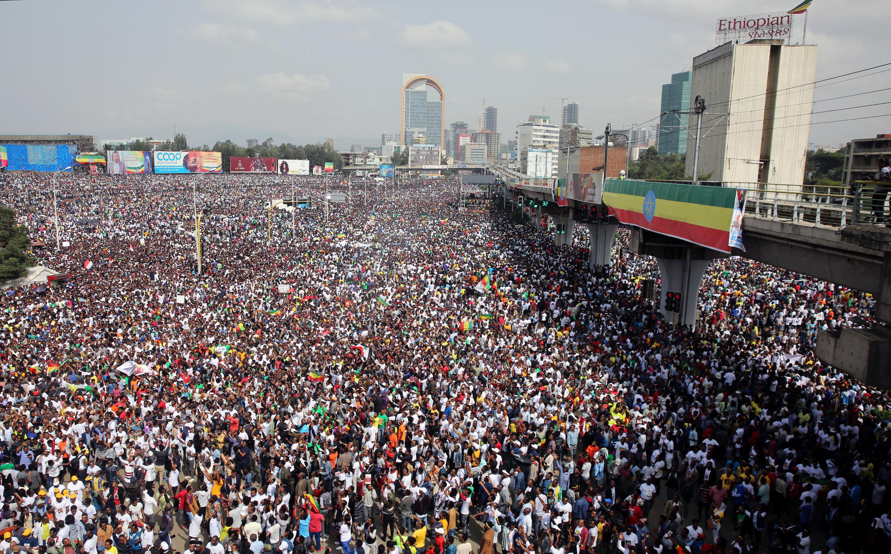 مسيرة دعم رئيس وزراء إثيوبيا