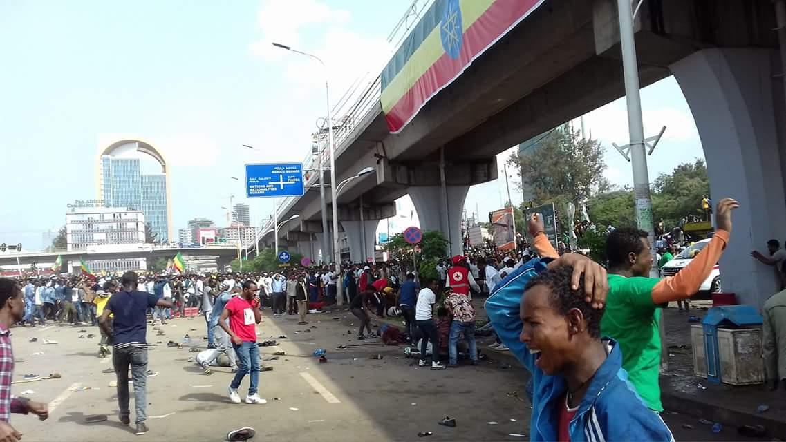 انفجار استهدف مؤيدى رئيس وزراء اثيوبيا