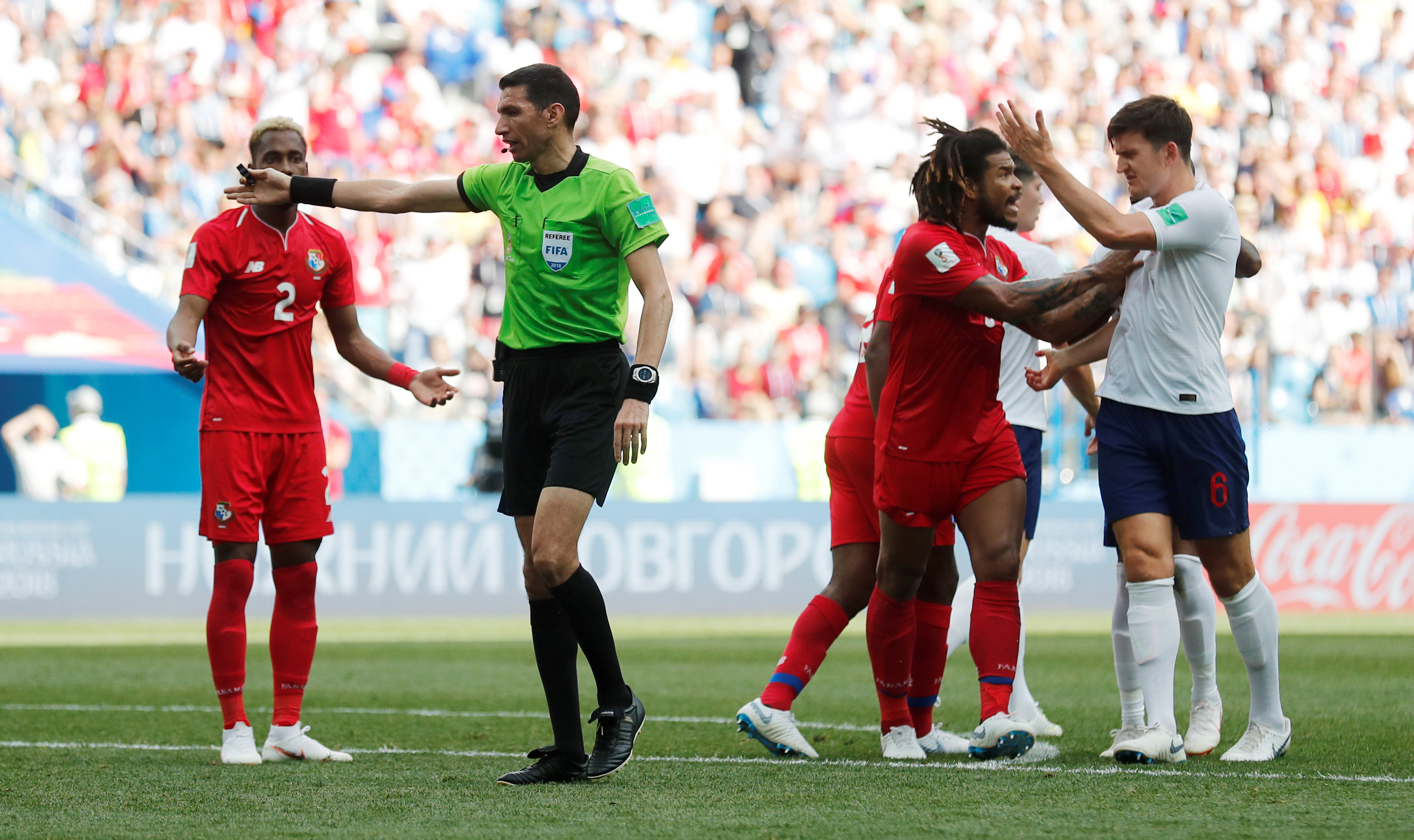 صافرة جهاد جريشة تدير مباراة إنجلترا وبنما