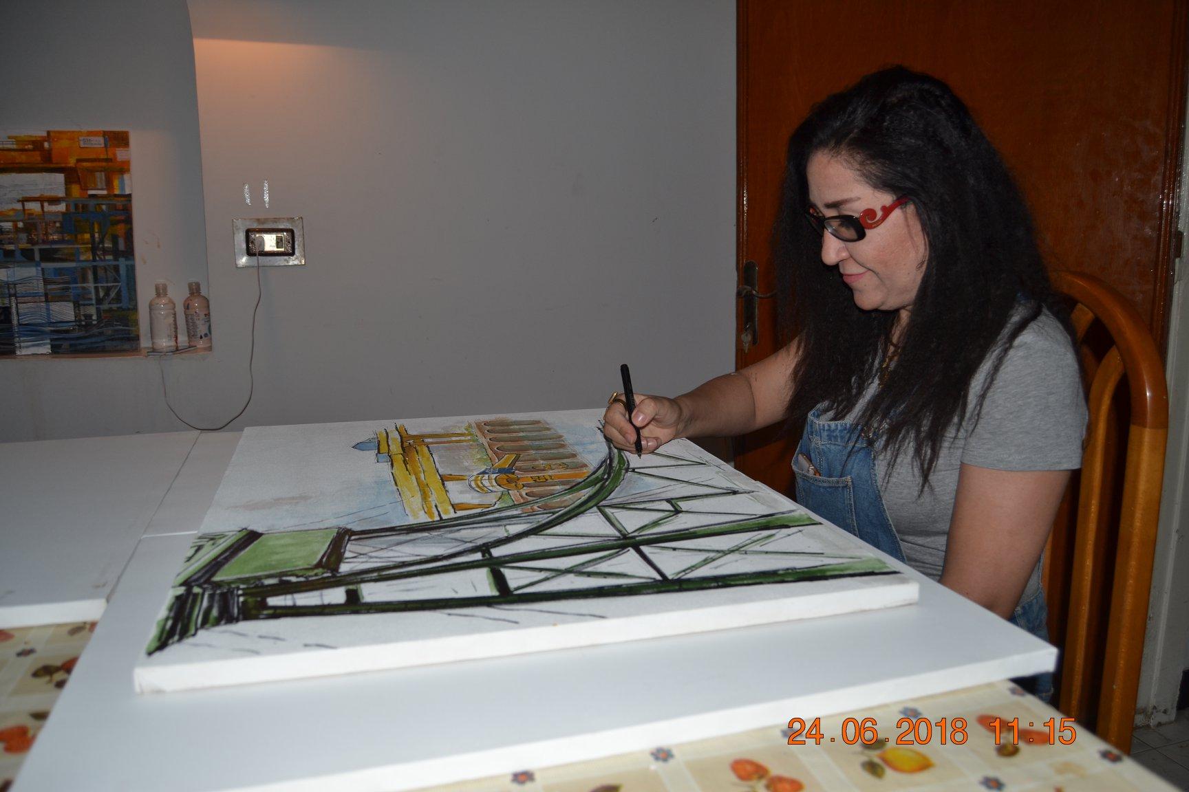 فنانين تشكليين يرسمون قناطر اسيوط  (4)