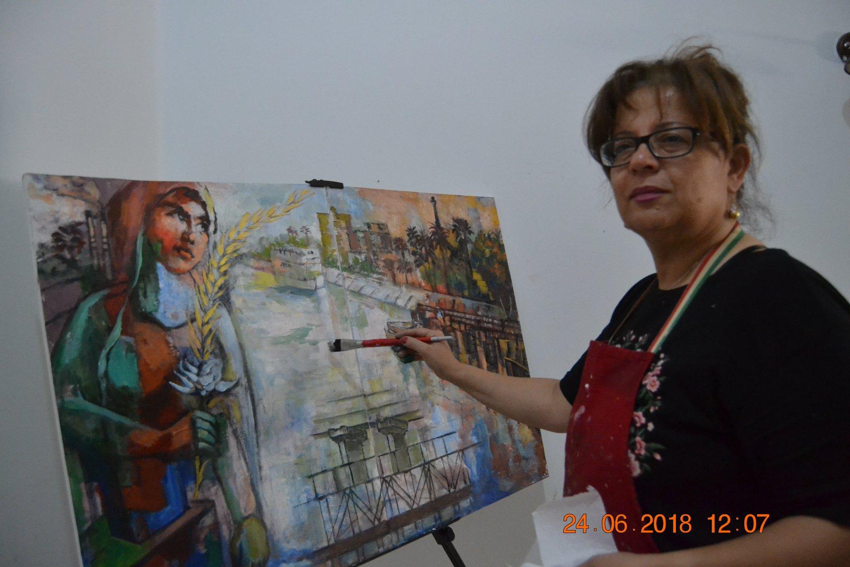 فنانين تشكليين يرسمون قناطر اسيوط  (2)