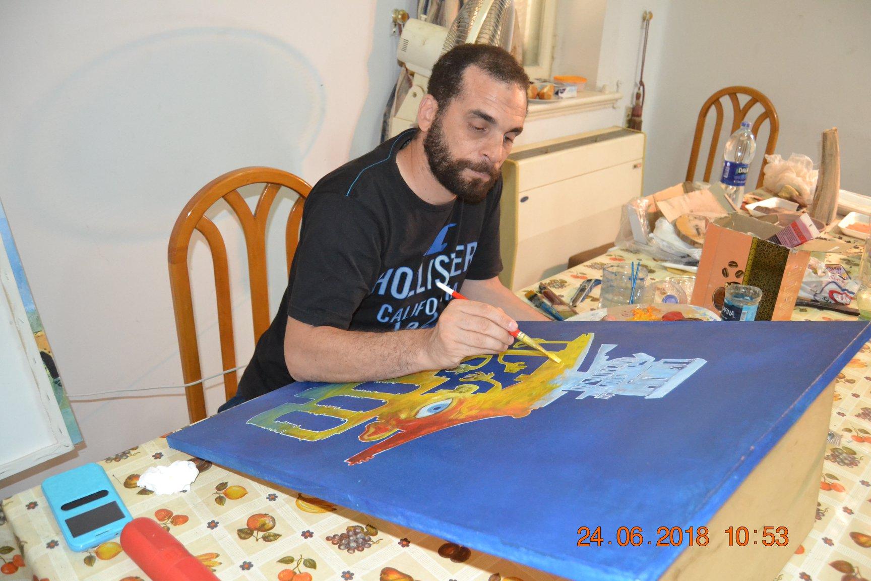 فنانين تشكليين يرسمون قناطر اسيوط  (14)