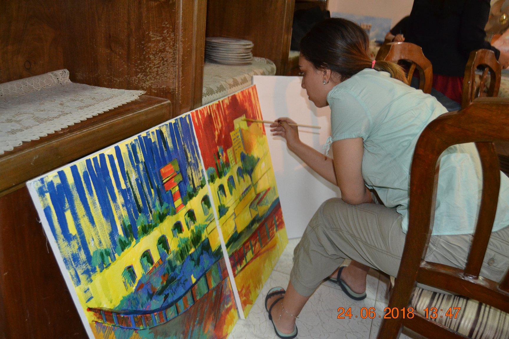 فنانين تشكليين يرسمون قناطر اسيوط  (5)