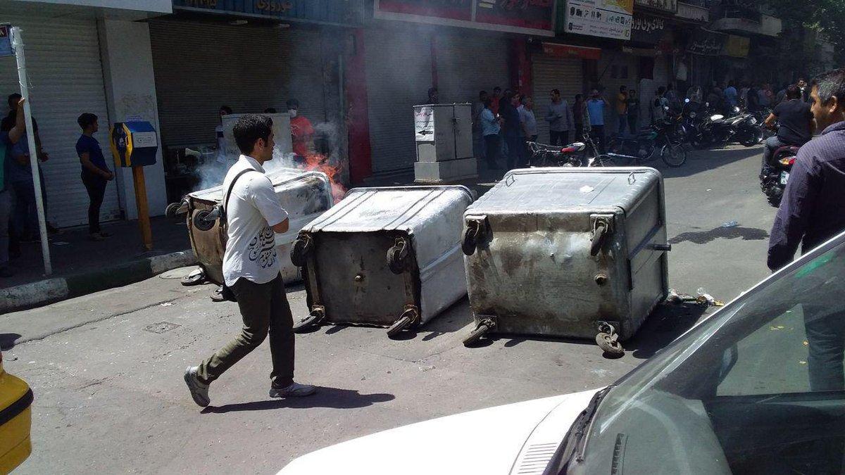 احتجاجات البازار الإيرانى