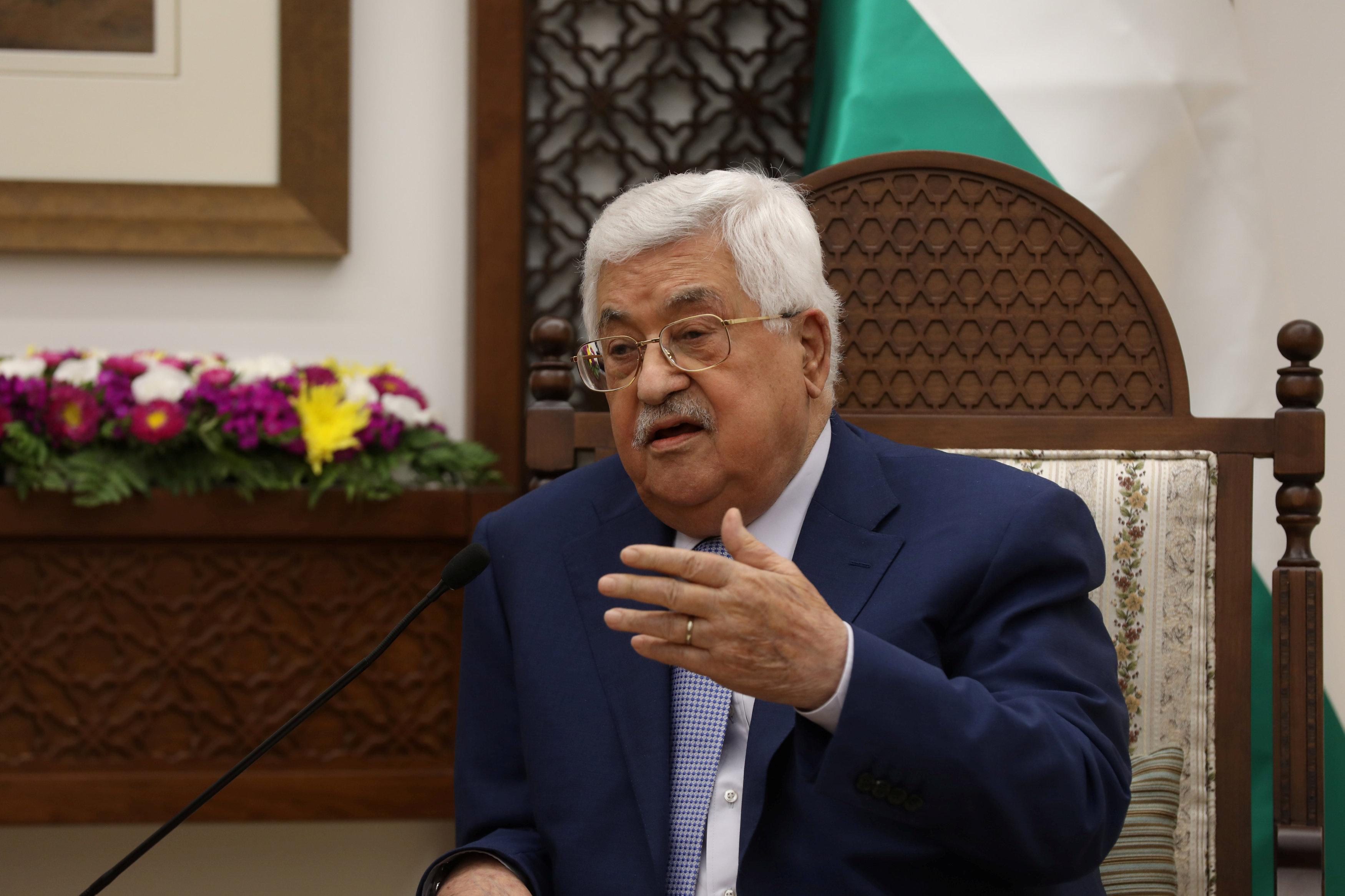 كلمة للرئيس عباس أثناء اللقاء