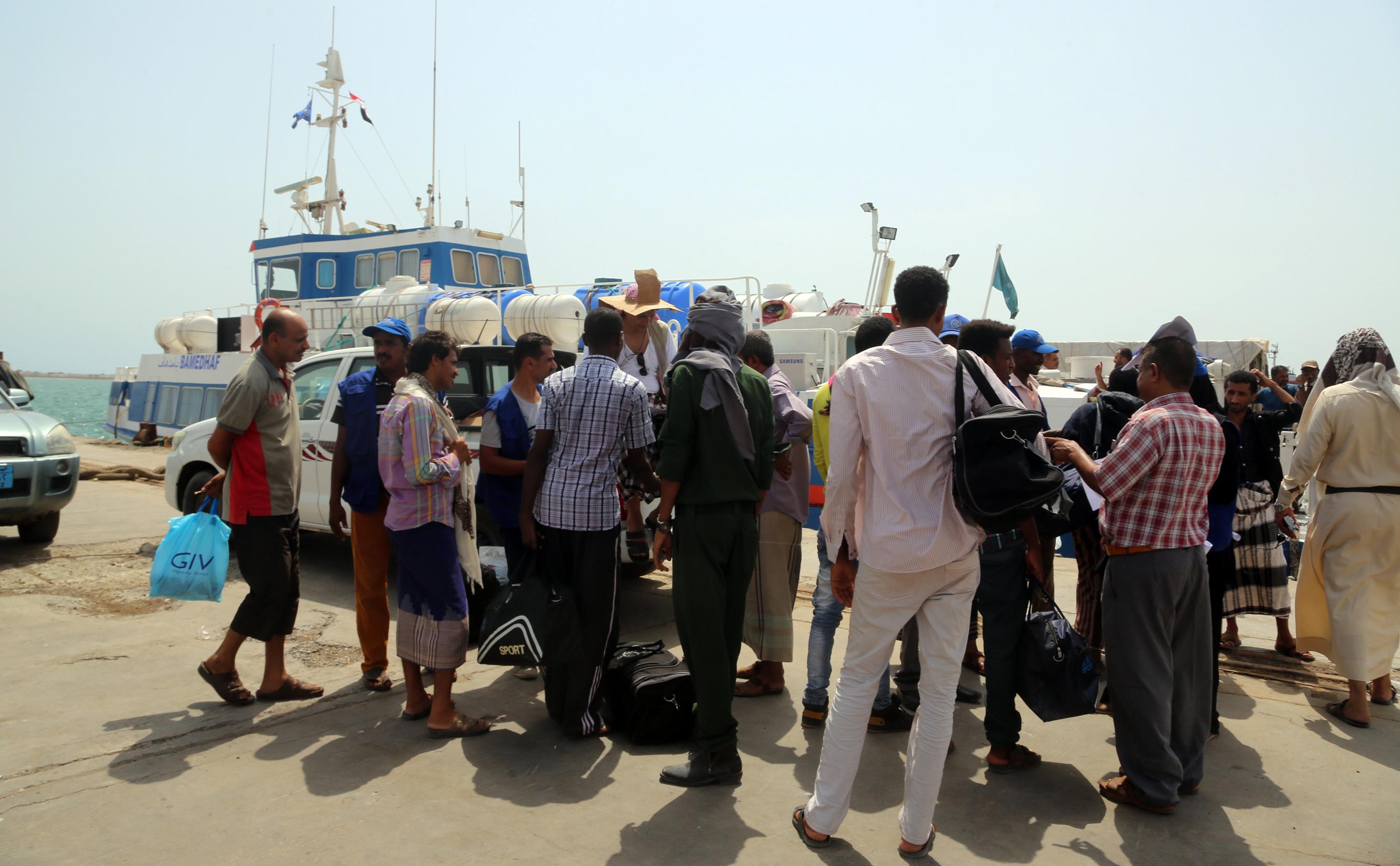 الهجرة الدولية تجلى مهاجرين أثيوبيين من اليمن
