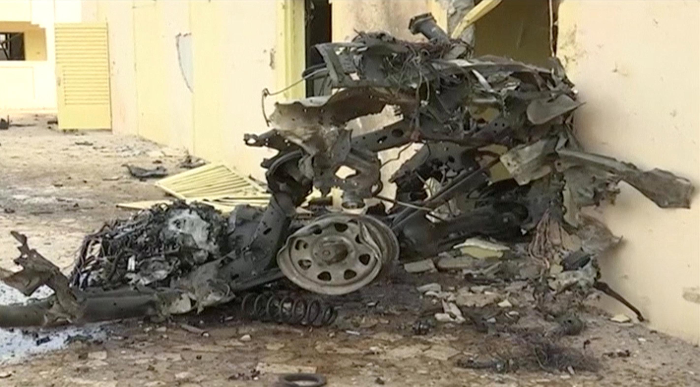 تدمير سيارة فى الهجوم