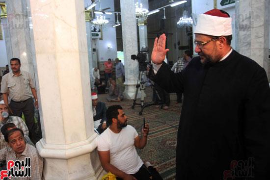 احتفال وزارة الأوقاف بفتح مكة من مسجد السيدة نفيسة (4)