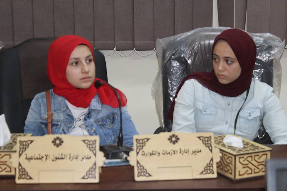 صورة للطلاب اثناء الاجتماع التنفيذي