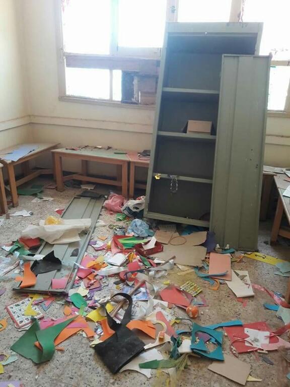 سرقة محتويات مدرسة بالناصرية (1)