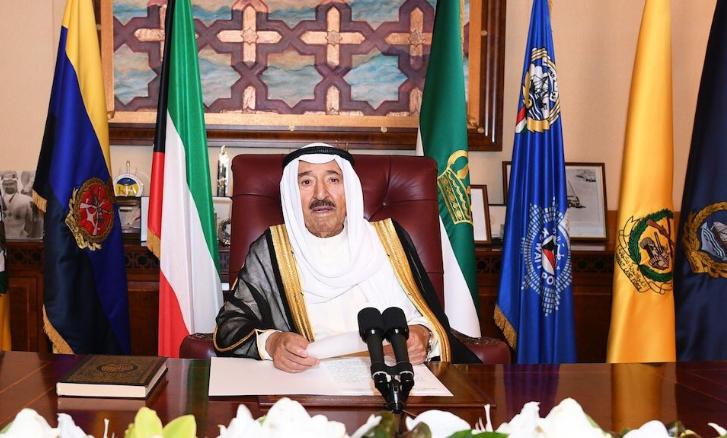 أمير الكويت أثناء الكلمة