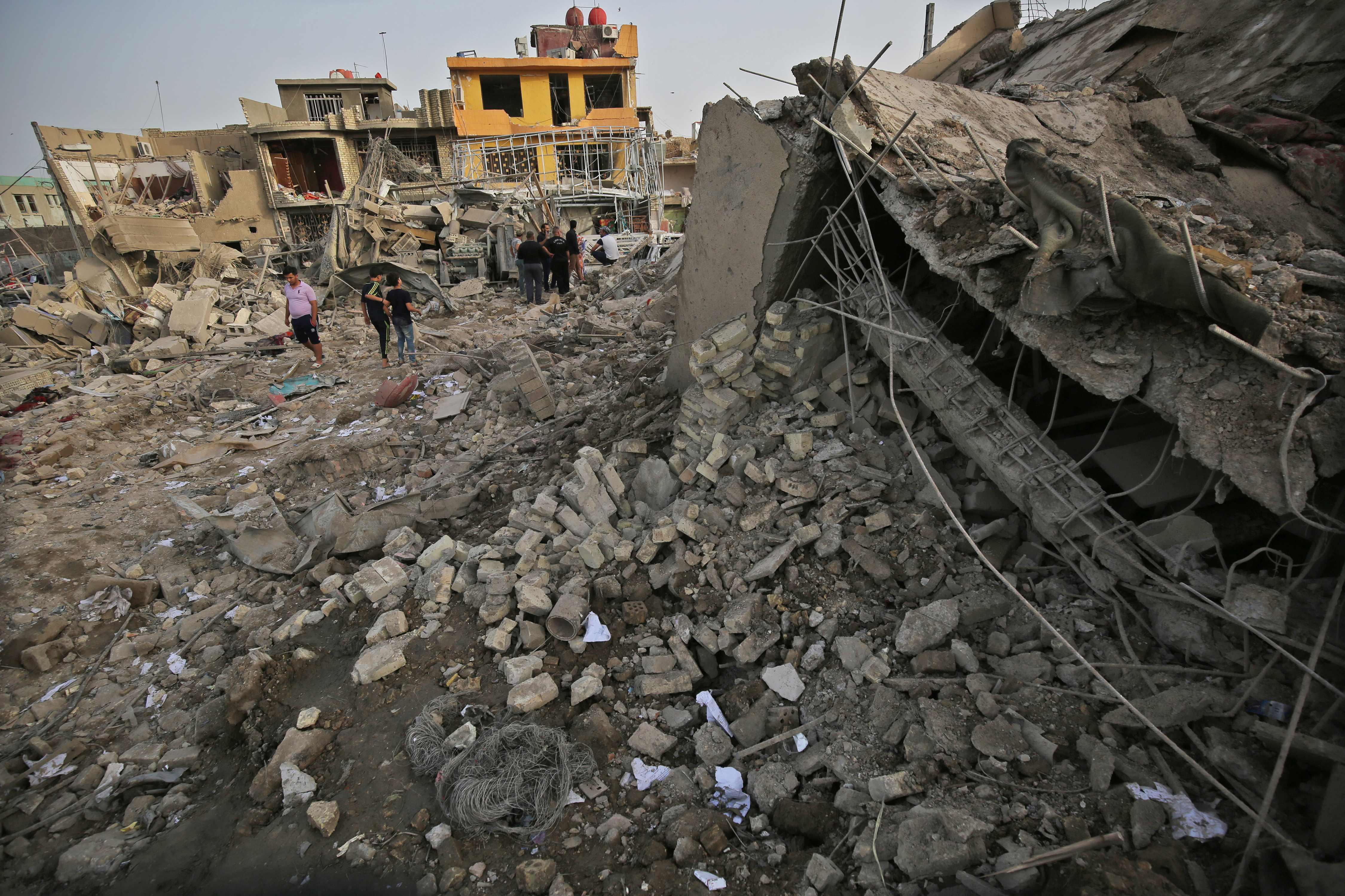 تفجير مستودع الأسلحة بمدينة الصدر العراقية