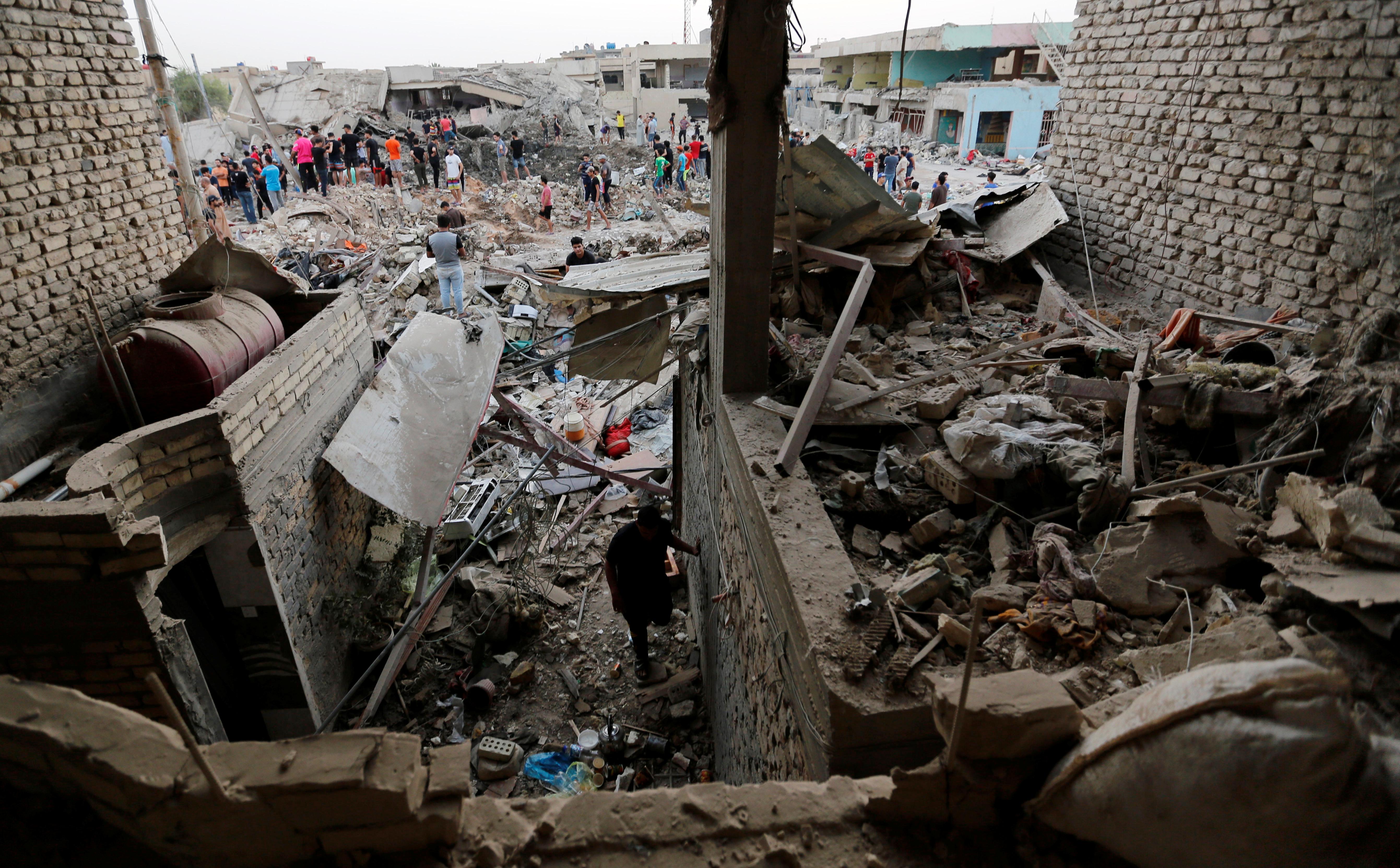 موقع حادث تفجير بغداد