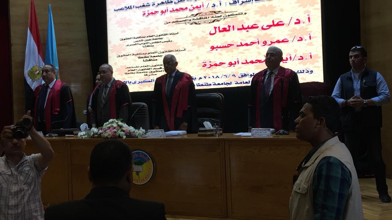 الدكتور على عبد العال رئيس مجلس النواب فى جامعة طنطا (2)