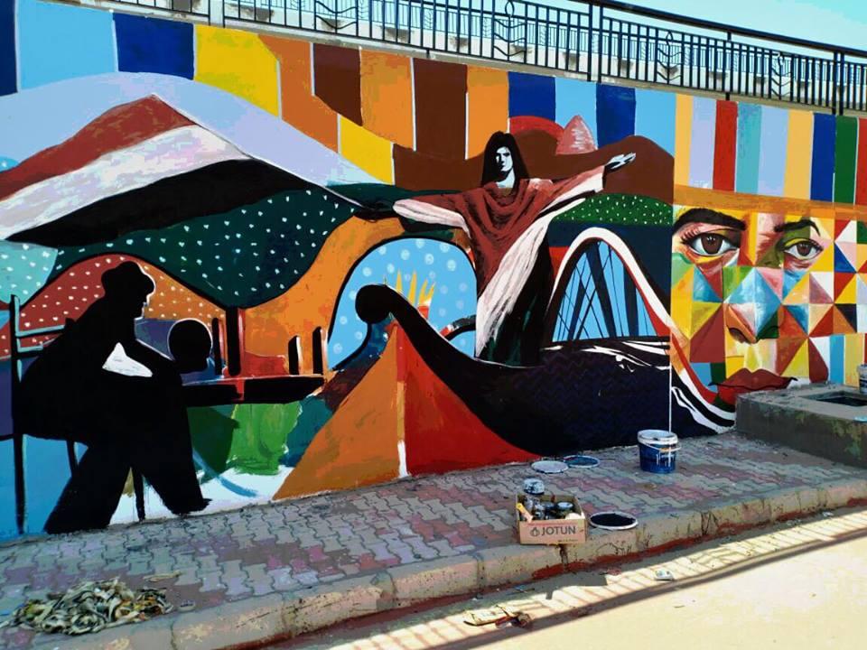 جدارية لدعم المنتخب المصري (1)