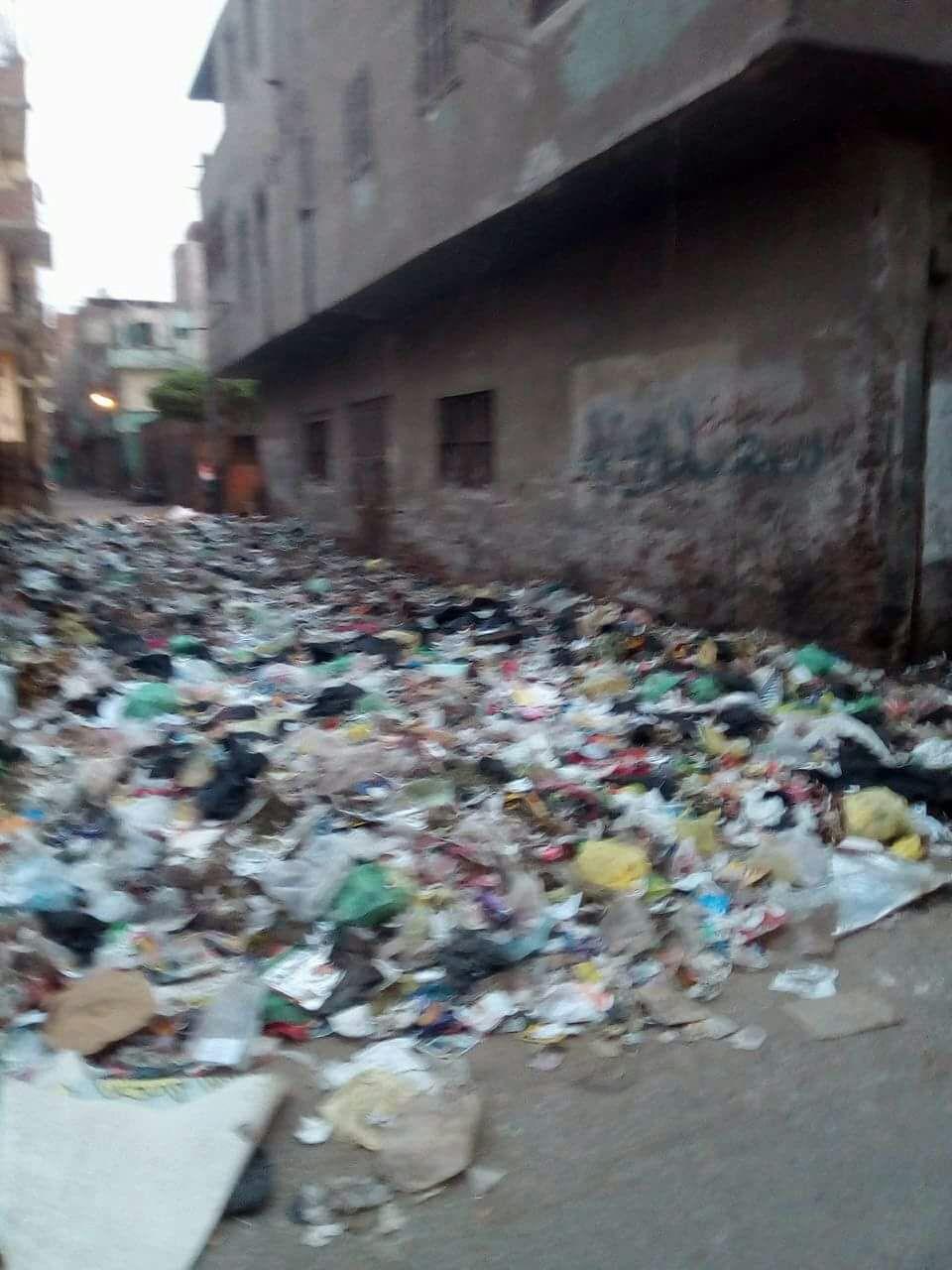 القمامة بجوار الوحدة الصحية بمنطقة الورش (5)