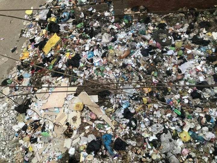 القمامة بجوار الوحدة الصحية بمنطقة الورش (4)